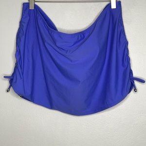 Catalina 2x 18W-20W Blissfully Blue Swim Skirt